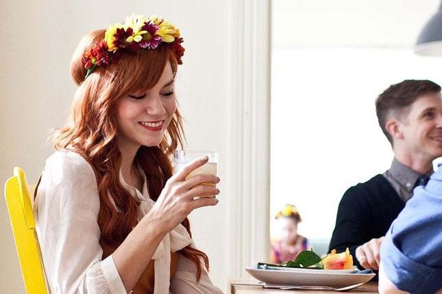 Осенние свадебные прически