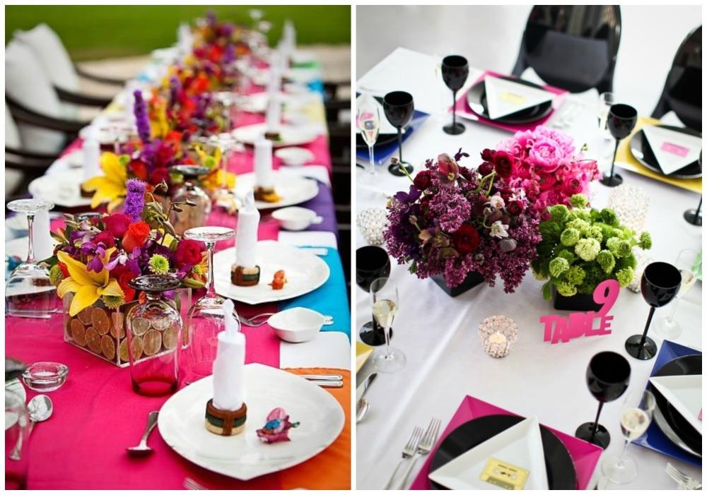 Идея свадебного декора: цветные блоки