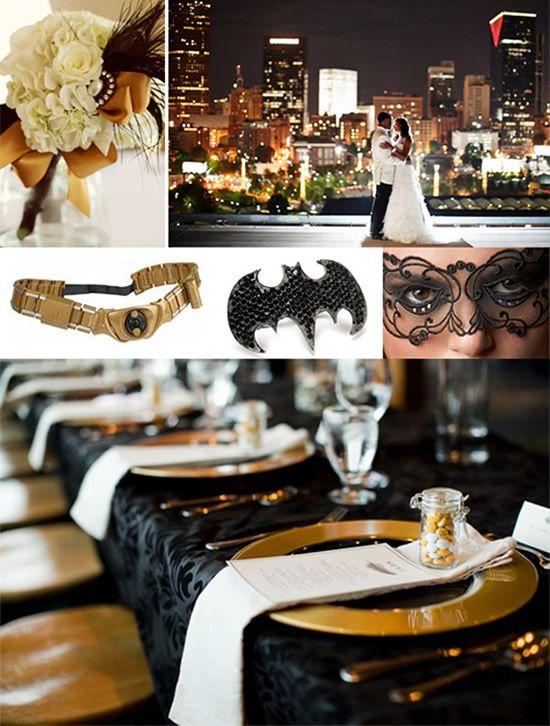 свадьба в стиле Бэтмен