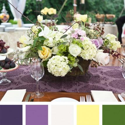 сочетания цветов свадьба 2014