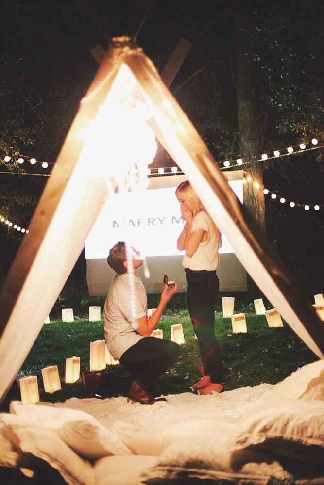 Как сделать романтичное предложение руки 523