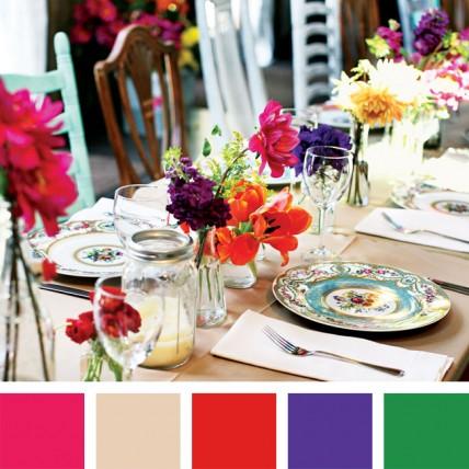 сочетания цветов которые будут в моде 2014 на свадьбе