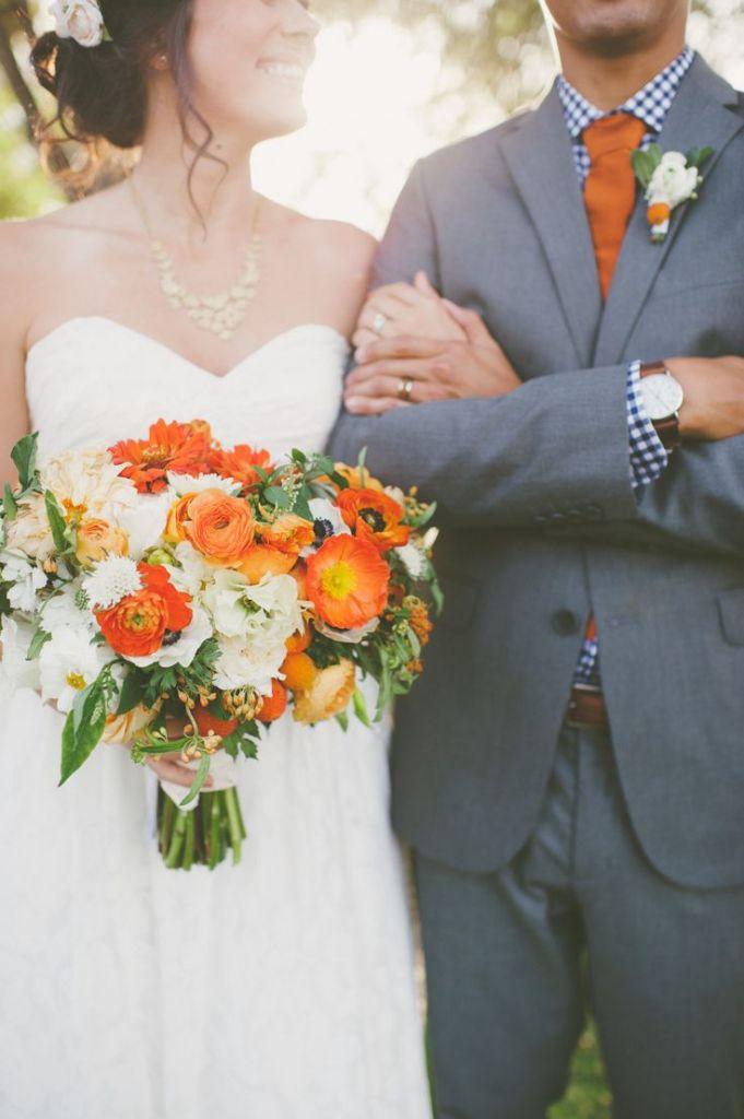 осенний свадебный букет 2015