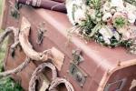 Чемодан как предмет декорации на свадьбе